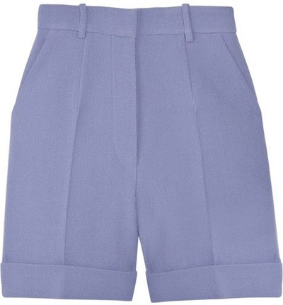 Carven High Waisted Wool-Crepe Shorts