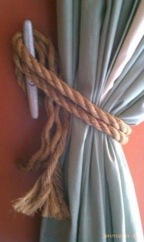 Use Ship Cleats for Window Treatment Hooks