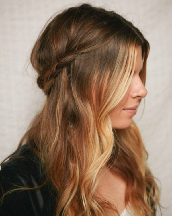 Braided toward the Back