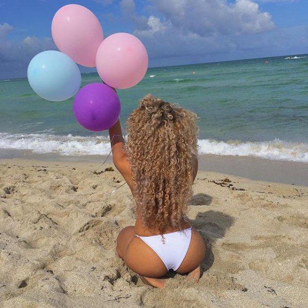 toy, balloon, sea, beach, sand,