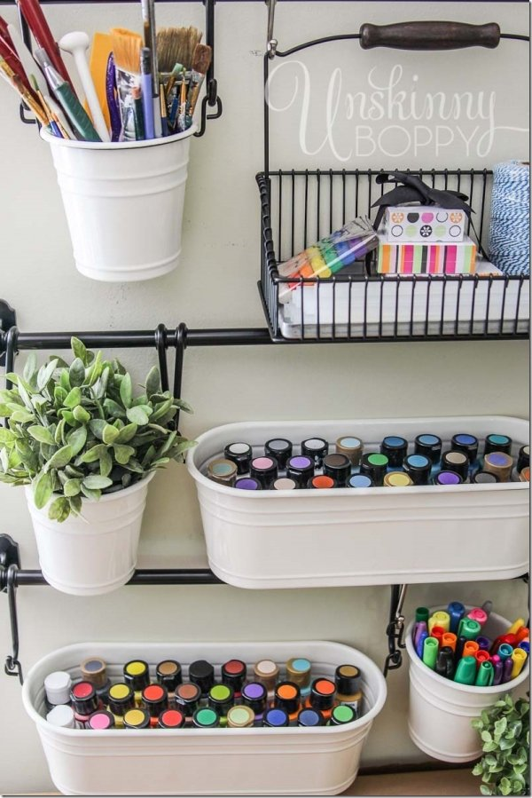 18 perfect playroom storage ideas parenting for Craft supplies organization ideas