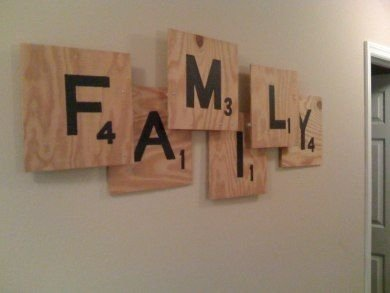 Fun Scrabble Art