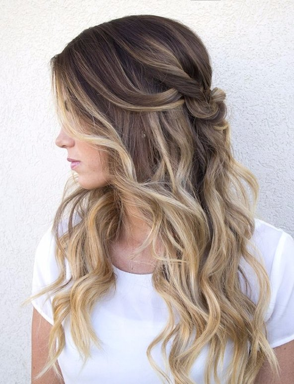 Half up Ombre