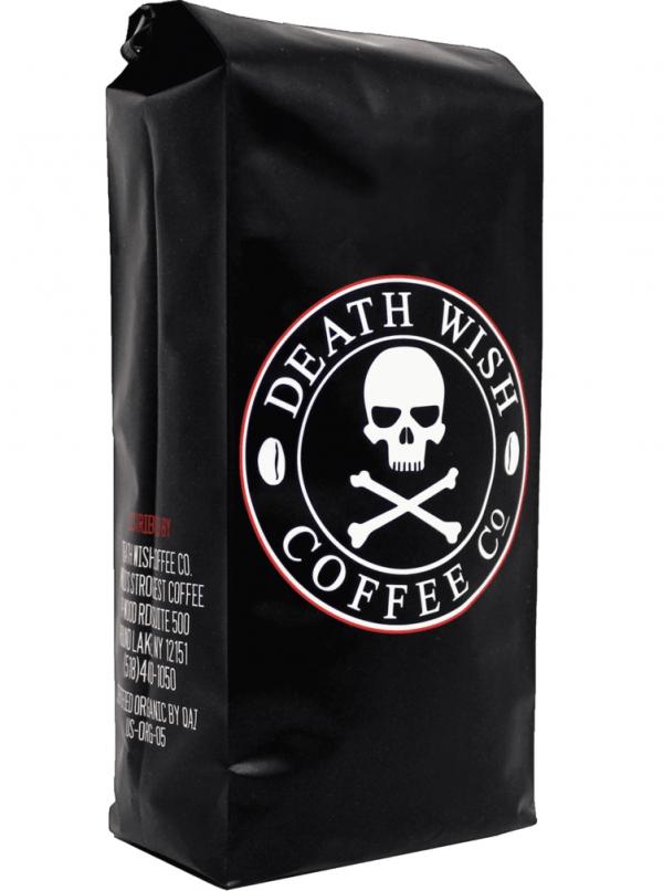Death Wish Coffee,bag,espresso,drink,leather,