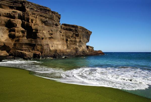 Green Papakolea Beach, Hawaii