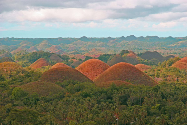The Chocolate Hills, the Philippines