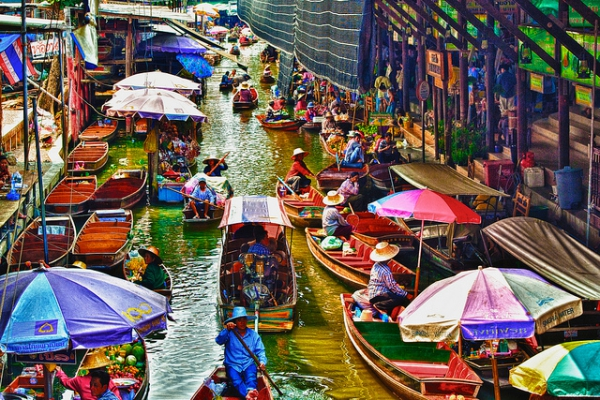 See the Floating Market