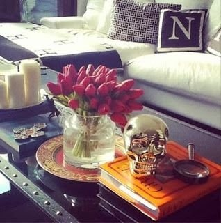 silver skull - 53 coffee table decor ideas that don't require a…