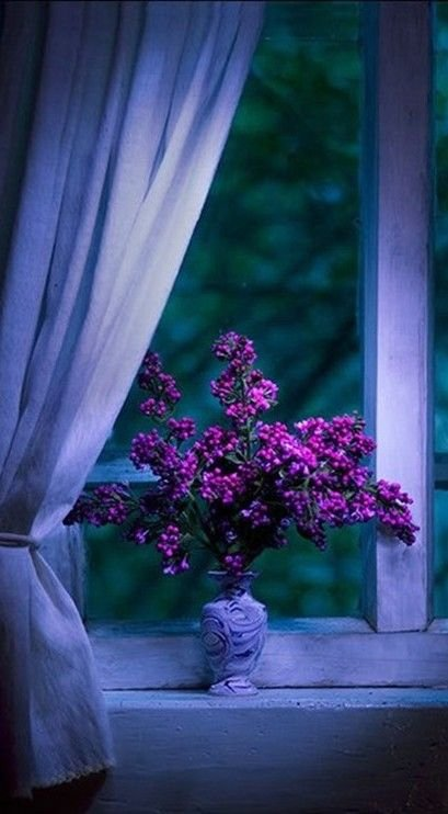 Dramatic Purple Flower Arrangement