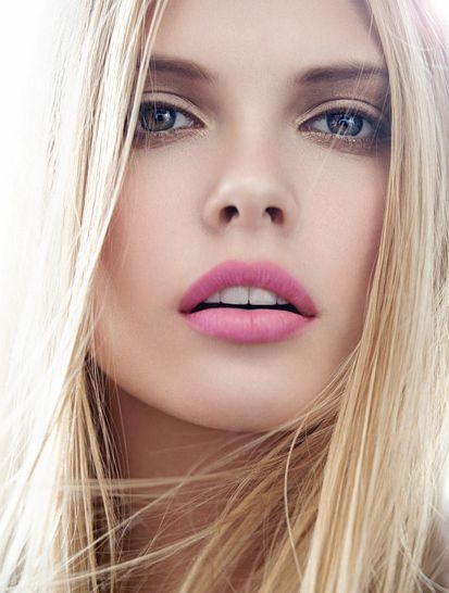 Pale Beauty Portrait Of Blond Woman Stock Image: Makeup Trend: 21 Pale Pink Lips Inspos