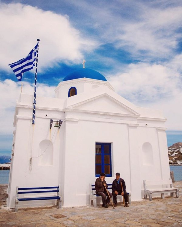 white, blue, sea, chapel, cloud,