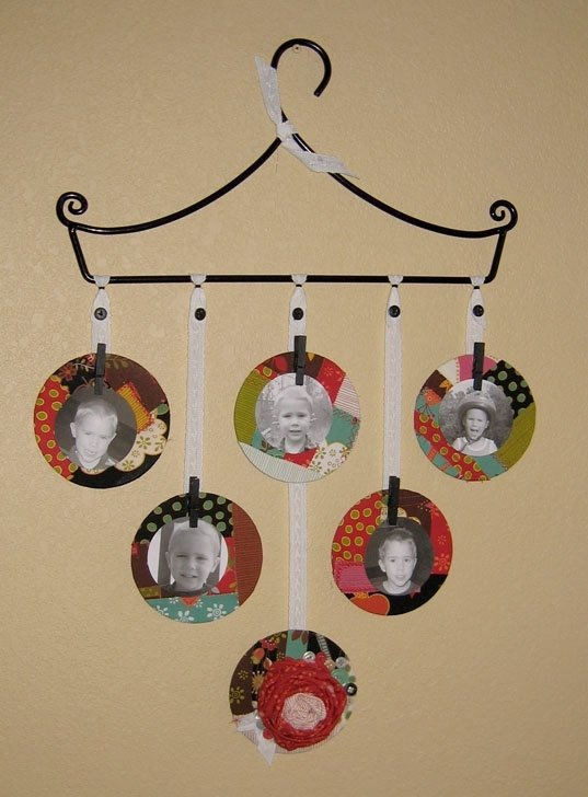 Recycled CD Photo Frame