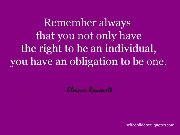 Obligation to Be an Individual