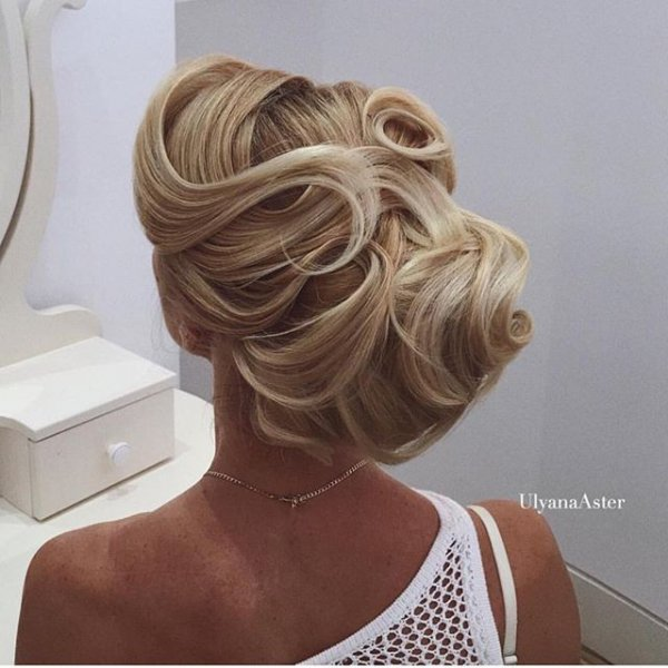 hair, hairstyle, blond, woman, chignon,