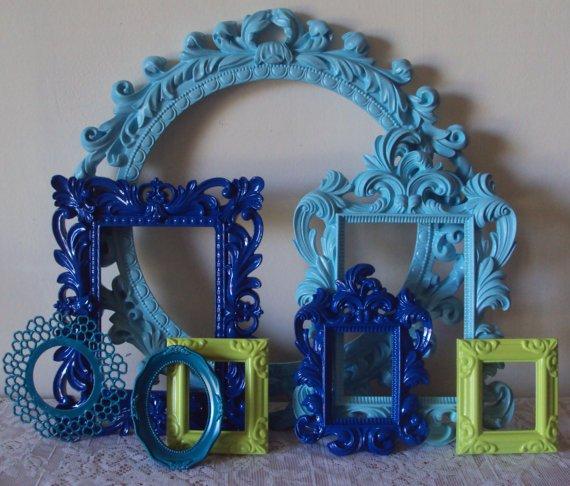 Blue Swirl Photo Frames