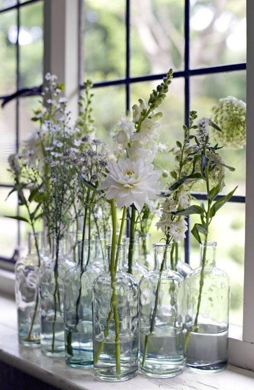 Arrangement of Glass Vases
