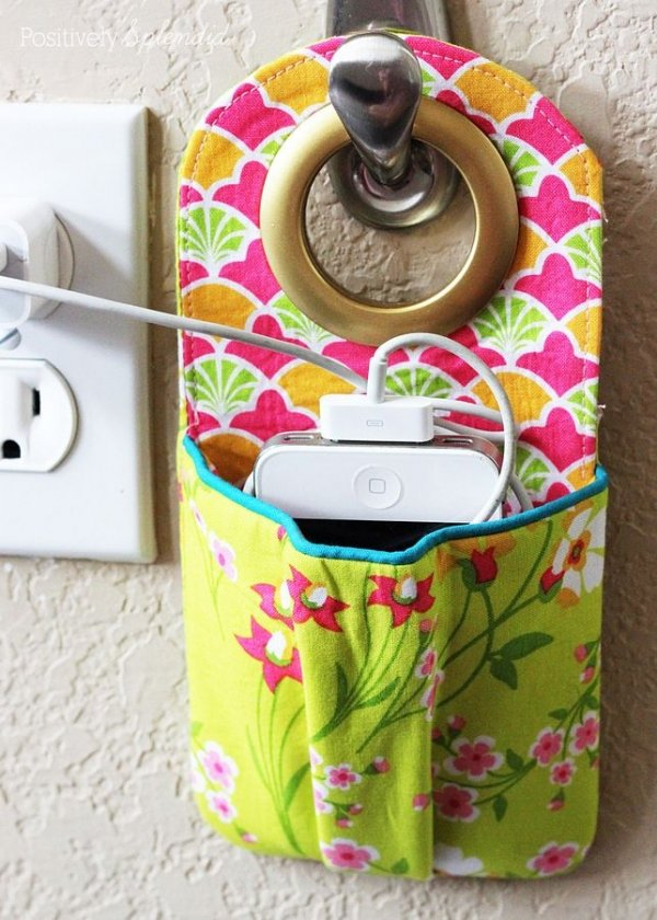 hanging phone charging station 37 fabric crafts that you ll