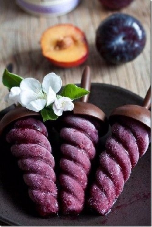 Plum Sorbet and Red Wine Popsicle Recipe - Incredibly Refreshing…