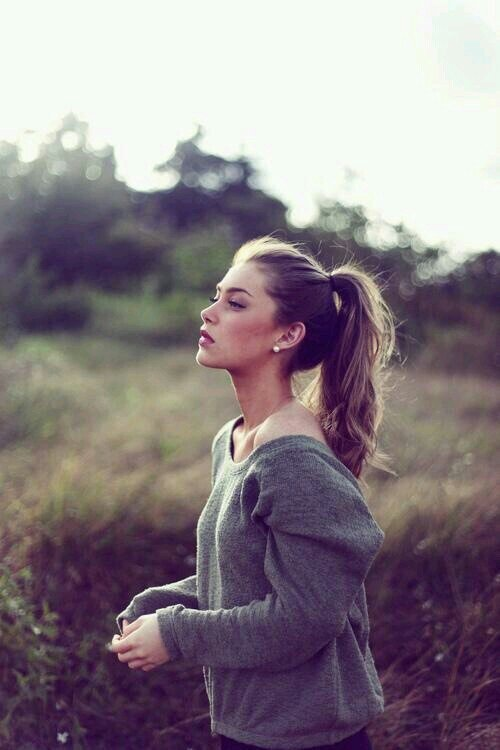 Give Your Ponytail Extra Support with Two Elastics