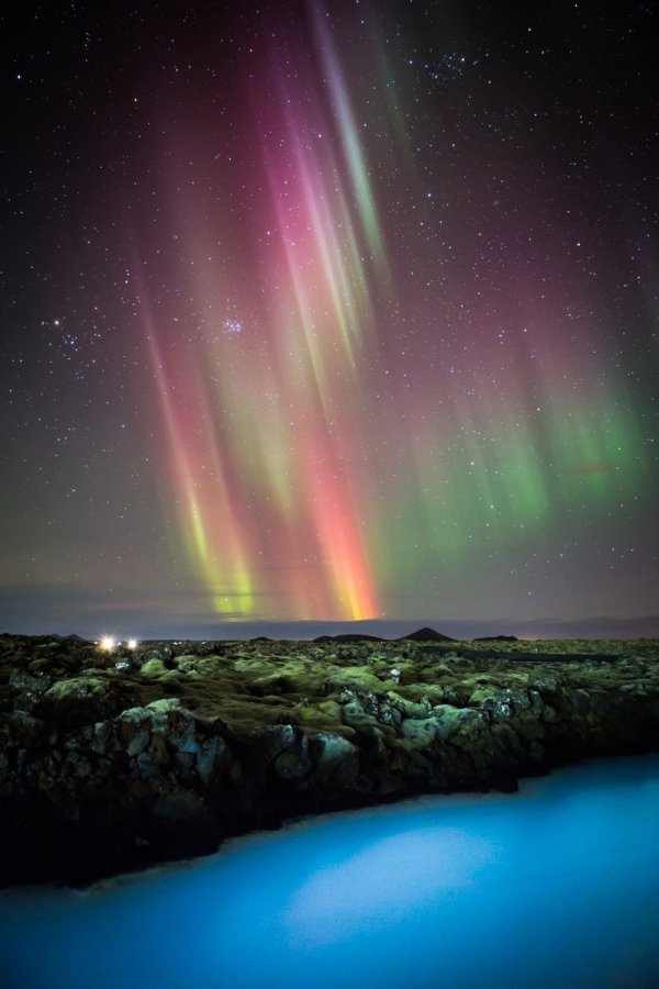 See the Northern Lights While Taking a Dip in the Blue Lagoon, Iceland