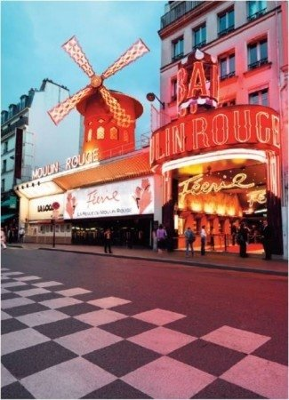Moulin Rouge,plaza,facade,restaurant,signage,