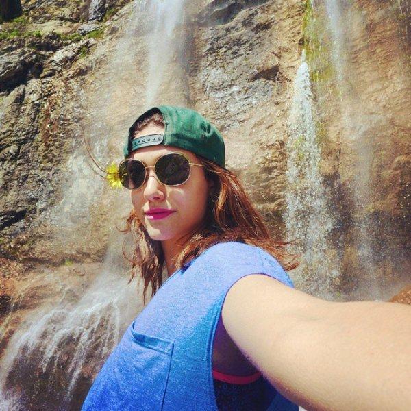Emmy Rossum Does Hiking