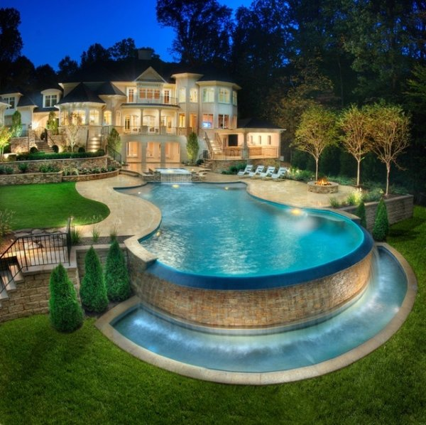 grand maison avec piscine énorme design - 59 maisons de rêve…