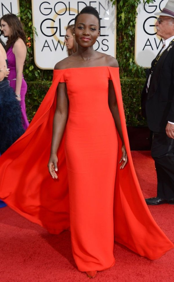 At the 2014 Golden Globe Awards. in Ralph Lauren