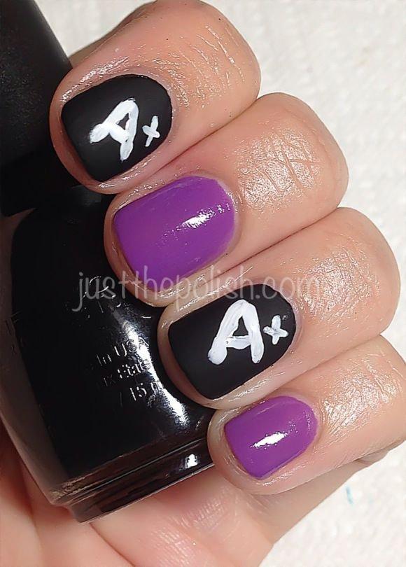 nail polish,finger,nail care,purple,nail,