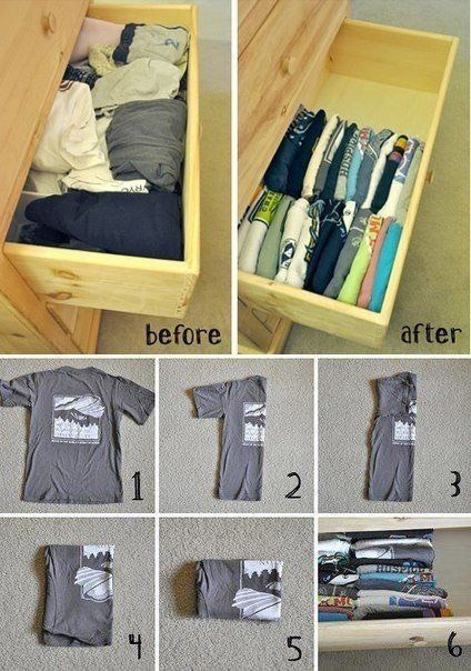 Fold and Store Your Clothes Efficiently