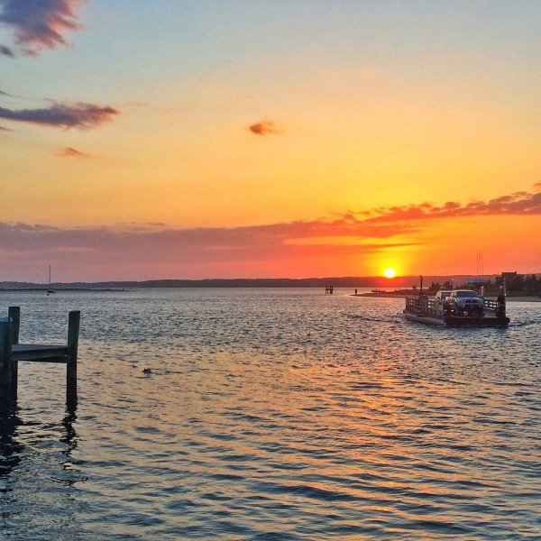 sky, horizon, sunset, waterway, water,