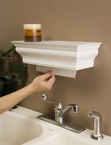 Crown Molding Shelf to Hide Paper Towels