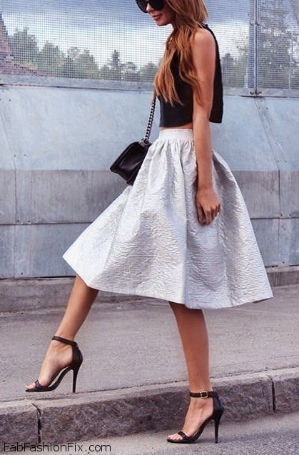 midi skirt and crop top 24 crop tops for your cutest summer