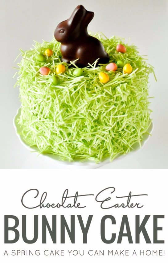 DIY Chocolate Easter Bunny Cake