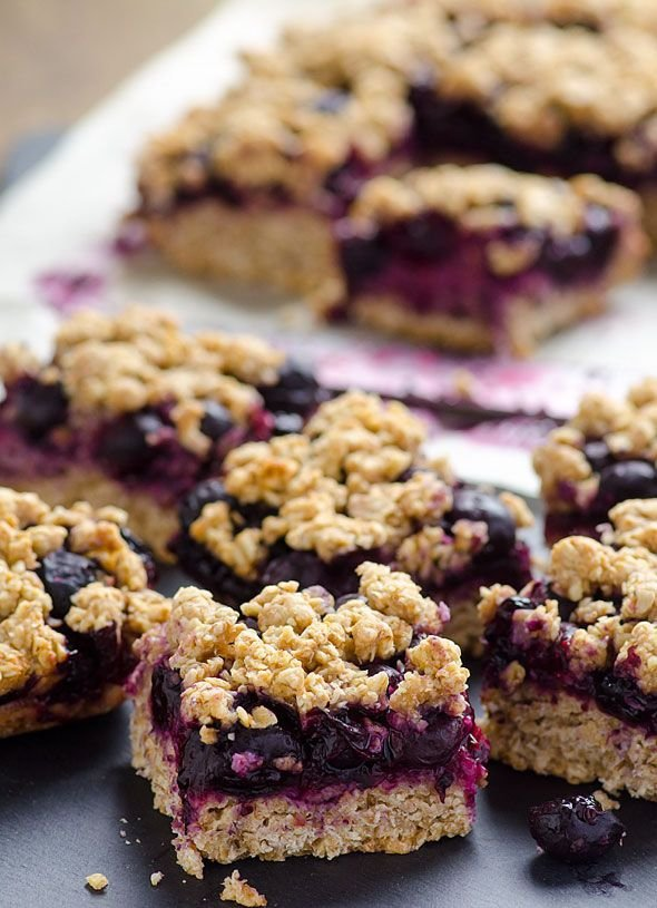 Clean Eating Blueberry Crumb Bars