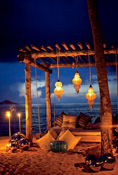 Lighted Beach for Two