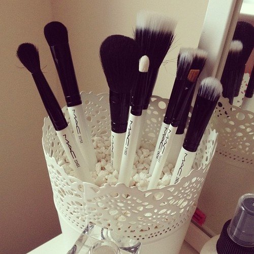 Use Microfiber Towels to Clean Makeup Brushes