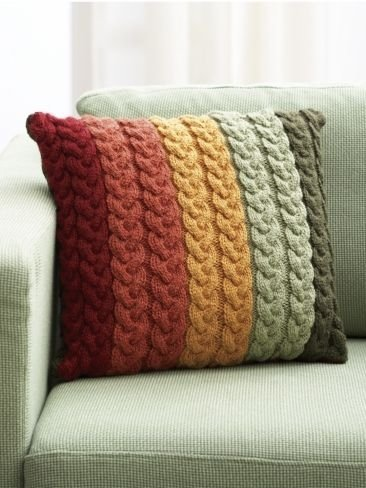 Cable Knit Pillow Pattern Free : Knit Pillow Covers - Got Your Needles Ready? 30 Knit or Crochet?