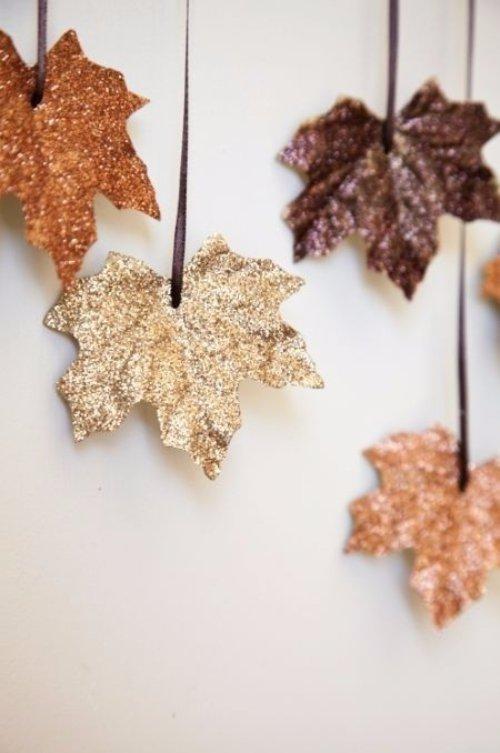 Glitter Leaves