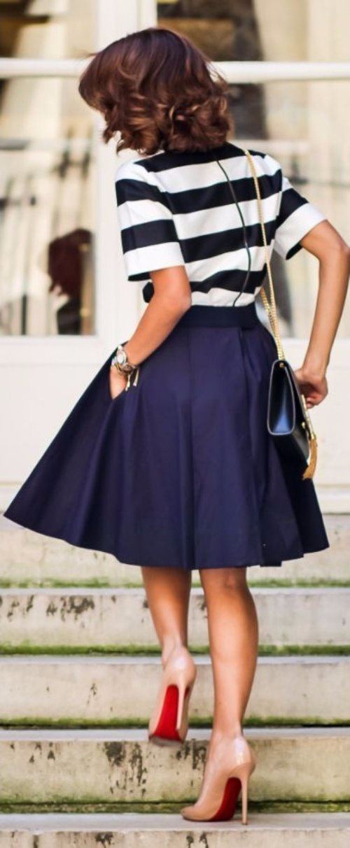 Midi Skirt with Louboutins
