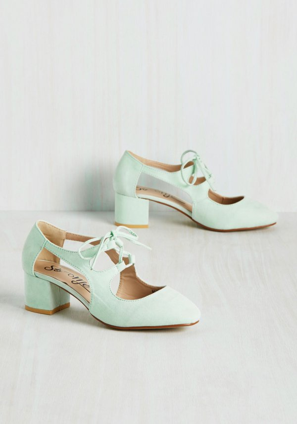 New Orleans Lease on Life Heel in Mint