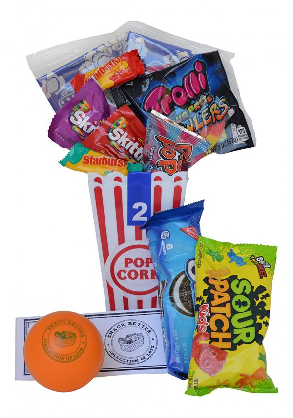 Sour Patch Kids, Popcorn, food, gift basket, product,