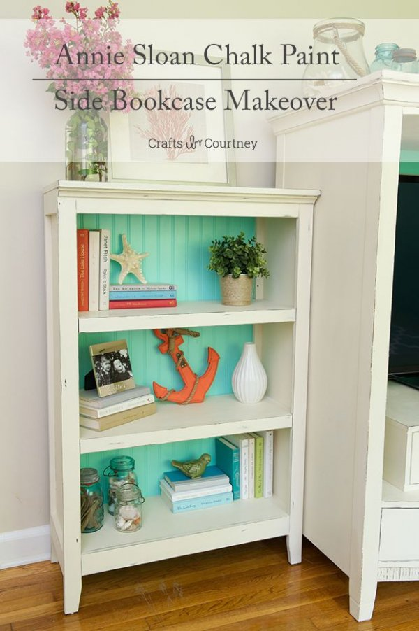 Paint a Bookcase with Coastal Colors and Add Nautical Accessories