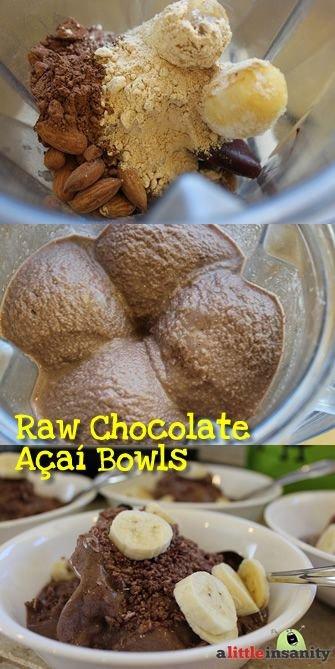Healthy Chocolate Acai Bowl