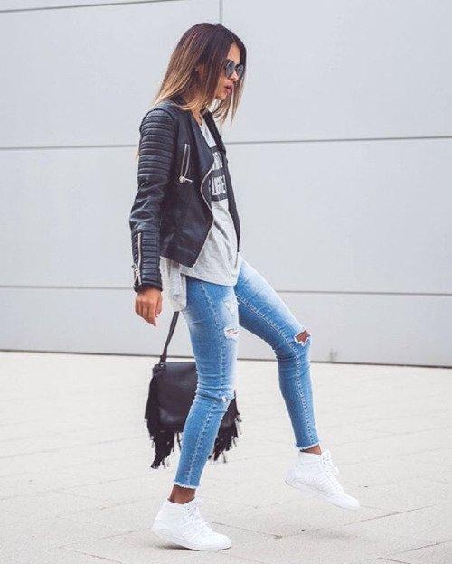 Biker Jacket and a Fringe Bag