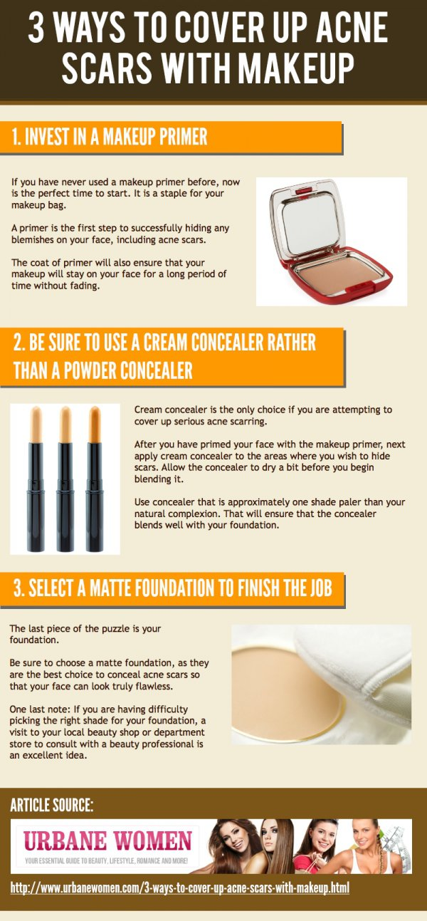 Ways to Cover up Acne Scars with Makeup