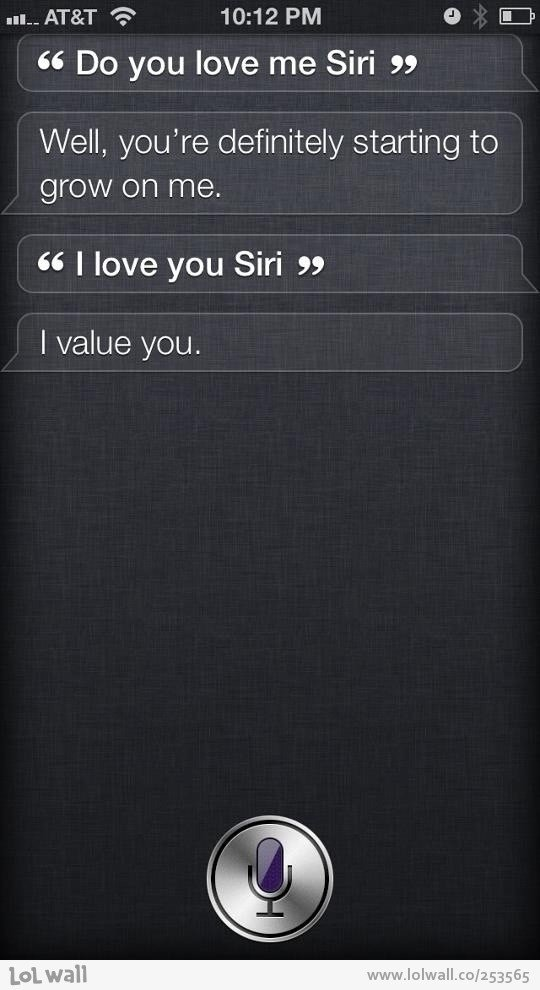 Do You Love Me, Siri?