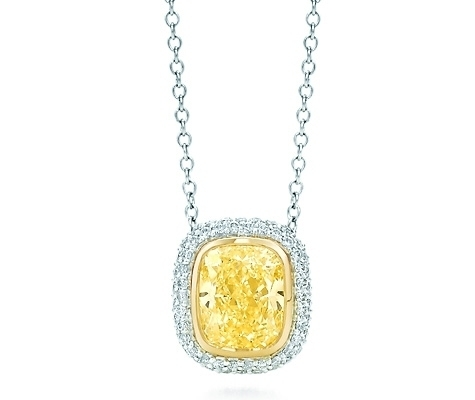 Tiffany bezet yellow diamond pendant 7 gorgeous yellow diamonds tiffany bezet yellow diamond pendant mozeypictures Image collections