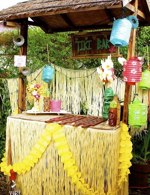 Tiki Bar for Cocktails - Tiki Party Ideas Every Girl ...