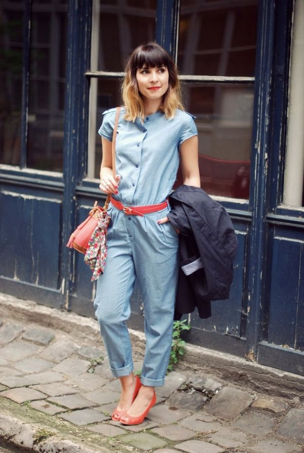9 Street Style Ways to Wear Jumpsuits ... Streetstyle
